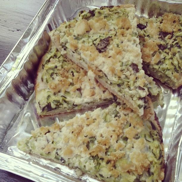 torta salata di zucchine alle erbe
