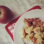 ricetta crumble di mele e cannella