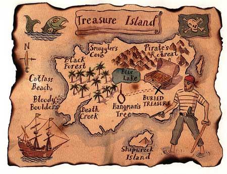 La mappa dell'isola del tesoro