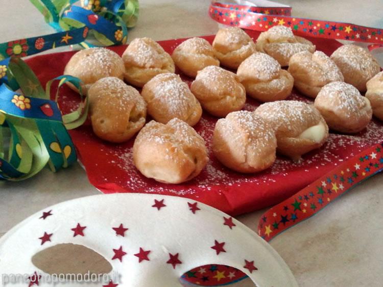 ricetta bigne di carnevale cotti al forno