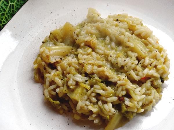 ricetta risotto con la verza