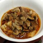 ricetta zuppa di funghi croccante