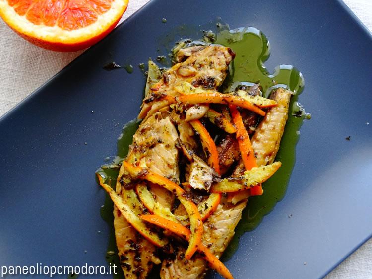 ricetta filetti di sgombro all'arancia