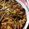 ricetta torta salata con radicchio rosso tardivo di treviso e porri