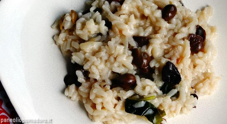 ricetta risotto con olive nere