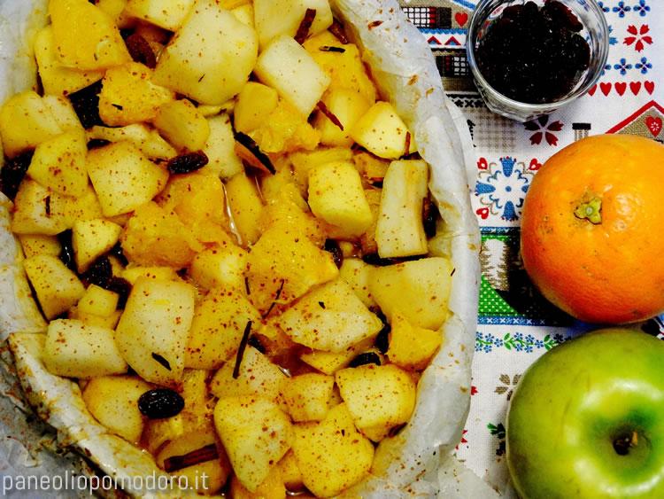insalata di frutta al cartoccio