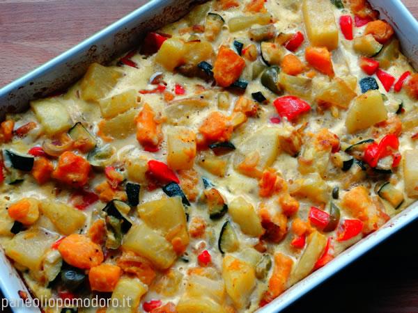 tortilla di verdure vegetariana