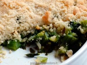 crumble salato di asparagi