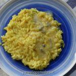 risotto allo zafferano con fonduta