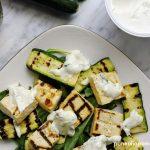insalata di tofu e zucchine grigliate